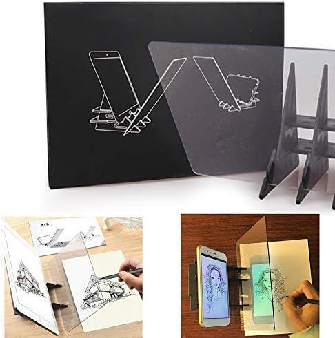 Tablero de dibujo óptico Tablero de trazado Lente de dibujo Asistente de dibujo Imagen Reflector Proyector Tablero de pintura Copiar tabla Proyección Tablero Linyi Plotter Ayuda de dibujo: Amazon.es: Hogar
