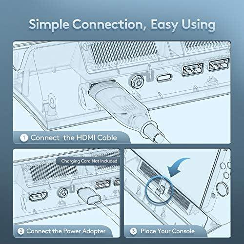 Switch TV Dock, VOGEK Replacement for Nintendo TV Dock Station Portable Charging Docking Playstand for Nintendo Switch Charge (Grey)