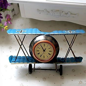 Airplane Table Clock Cr Retro Vintage Plane