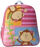 Stephen Joseph Girls 2-6x Gogo Girl Monkey Bag,Hot Pink/Cloud Blue,One Size, Bags Central