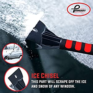 Best Ice Scraper With Water Proof Storage Bag - Ultra Durable Ice Chisel With Foam Grip for Scraping Ice From Car and Truck Windows and Windshields - So Good We Back it with a 10 Year Guarantee