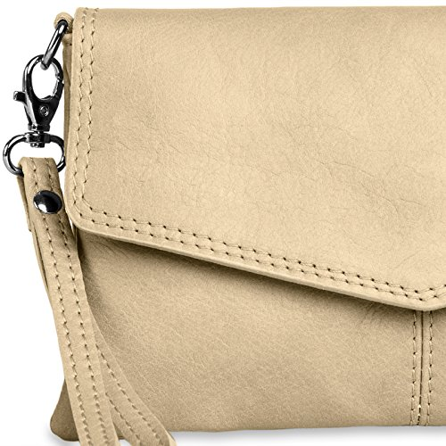 Leather CASPAR TA322 Beige Evening TA322 Womens CASPAR Clutch Napa ngqdqXUZ