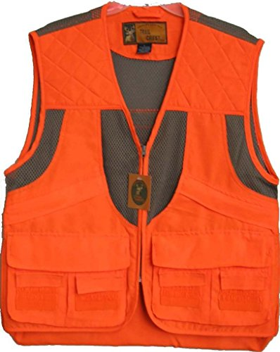 Trail Crest Mens Blaze Orange Safety Deluxe Front Loader Vest W/ Magnet, Large