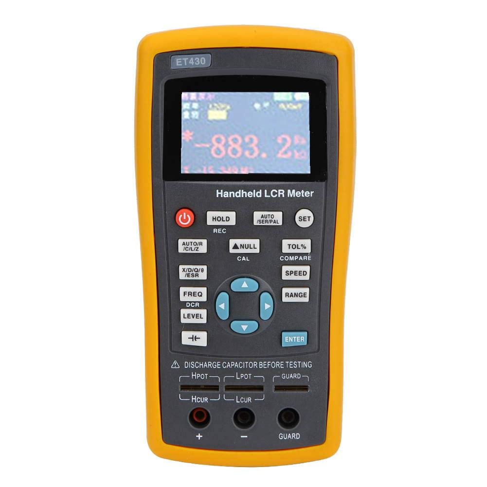 Capacitance Meter, Multifunction Handheld Digital Resistance Inductance Capacitance  Meter Multimeter Tester 100~240V with 2.8 Inch TFT Display, with Open  Circuit Short Correction Function(ET430): Amazon.in: Home Improvement