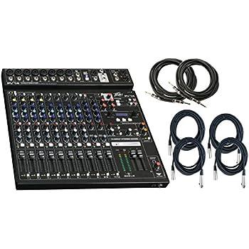 Amazon com: Peavey PV 10 AT Auto-Tune 8 Channel Mixer w/ 6 Cables