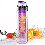 27oz. Sport Water Bottle with Fruit Infuser(Many Color Option) - BPA Free