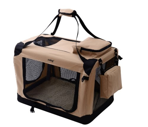 MDOG2 Portable Soft Crate, 32 by 23 by 23-Inch, Large, Sand