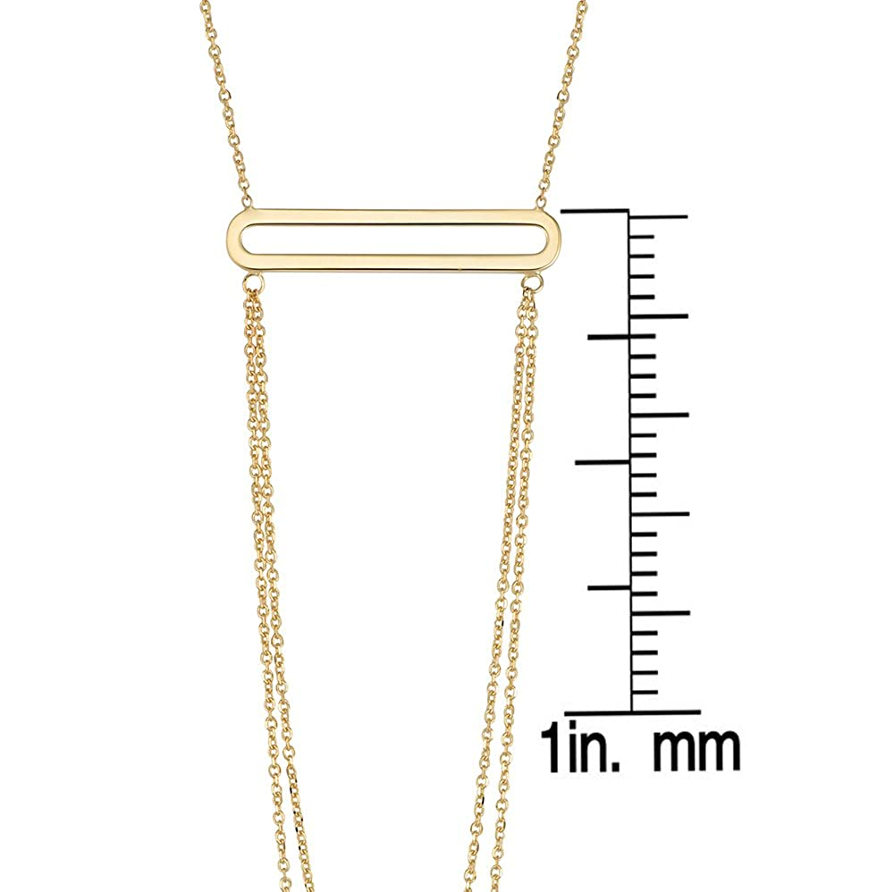 14Kt Italian Yellow Gold Fashion Necklace with Link Chain