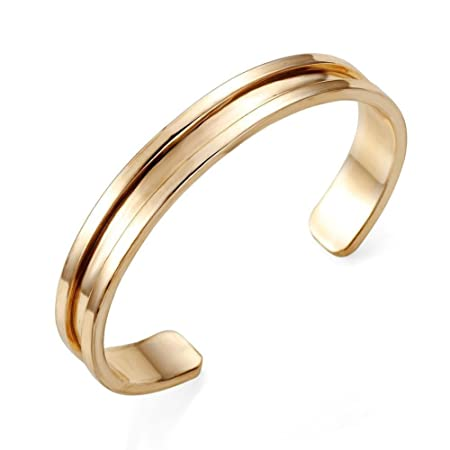 Silver Hot Stainless Steel Cuff Bangle Hair Tie Bracelet for men Women Band  Elegant (Gold)  Amazon.co.uk  Kitchen   Home 608a86c5345