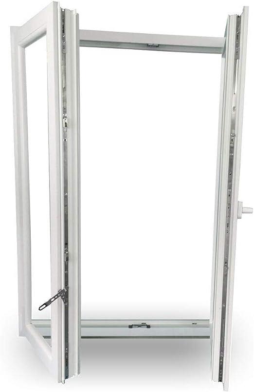 Dreh-Kipp Links 2-Fl/ügelig 2-Fach-Verglasung 60mm Bautiefe BxH: 2000x2100mm Dreh Rechts JeCo Kunststofft/ür Balkont/ür Stulpt/ür
