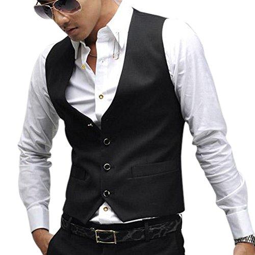 PATTONJIOE Business V neck Sleeveless Jacket