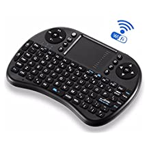 Wireless Mini Keyboard, MYBDJ ipazzport KP-810-21 Portable Mini Wireless Keyboard with Touchpad Mouse Portable Mini Handheld Remote Ergonomic Keyboard with 92 Keys Air Touchpad Mouse Work for XBox Games 360 PC PAD PS3 Android TV Box OS