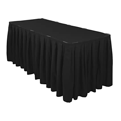 Amazoncom LinenTablecloth Ft Accordion Pleat Polyester Table - Conference table skirts