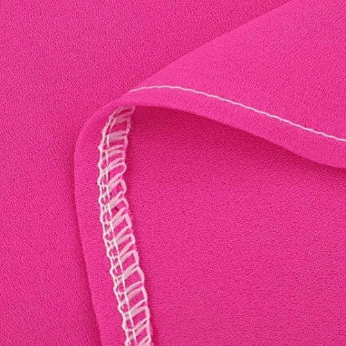 Unicolore Tunique Loisir Cou Hot Adelina Blouse Chemisiers Pink Legere Haut Shirts 3 Manches Elgante Baggy Femme Et Mode 4 V zptFwtRBxq