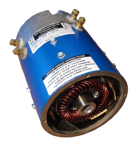 D&D 170-010-0002 Golf Cart Motor, E-Z-GO & Yamaha (Series), Speed & Torque