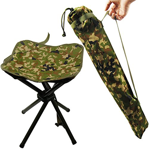 Portable Folding Stool Camping Outdoor Square Lightweight Stool Chair Heavy Duty Camouflage for Fishing Hiking Picnic Mountaineering BBQ House
