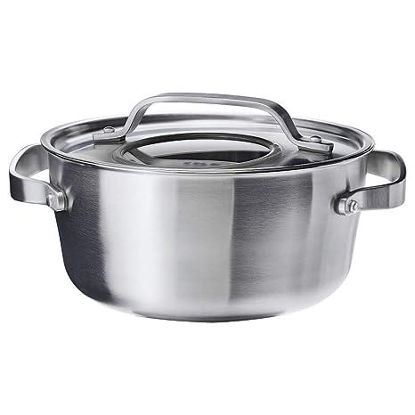 SENSUELL - Olla con tapa (acero inoxidable), color gris