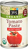 365 Everyday Value, Organic Tomato Paste, No Salt Added, 6 oz