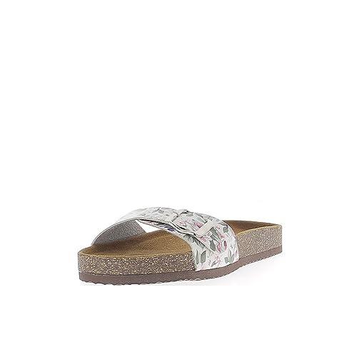 2cm Mulas Zapatos es Amazon de y Flores Blancas de con Suela pintadas Gruesa Razones complementos wBqzZP