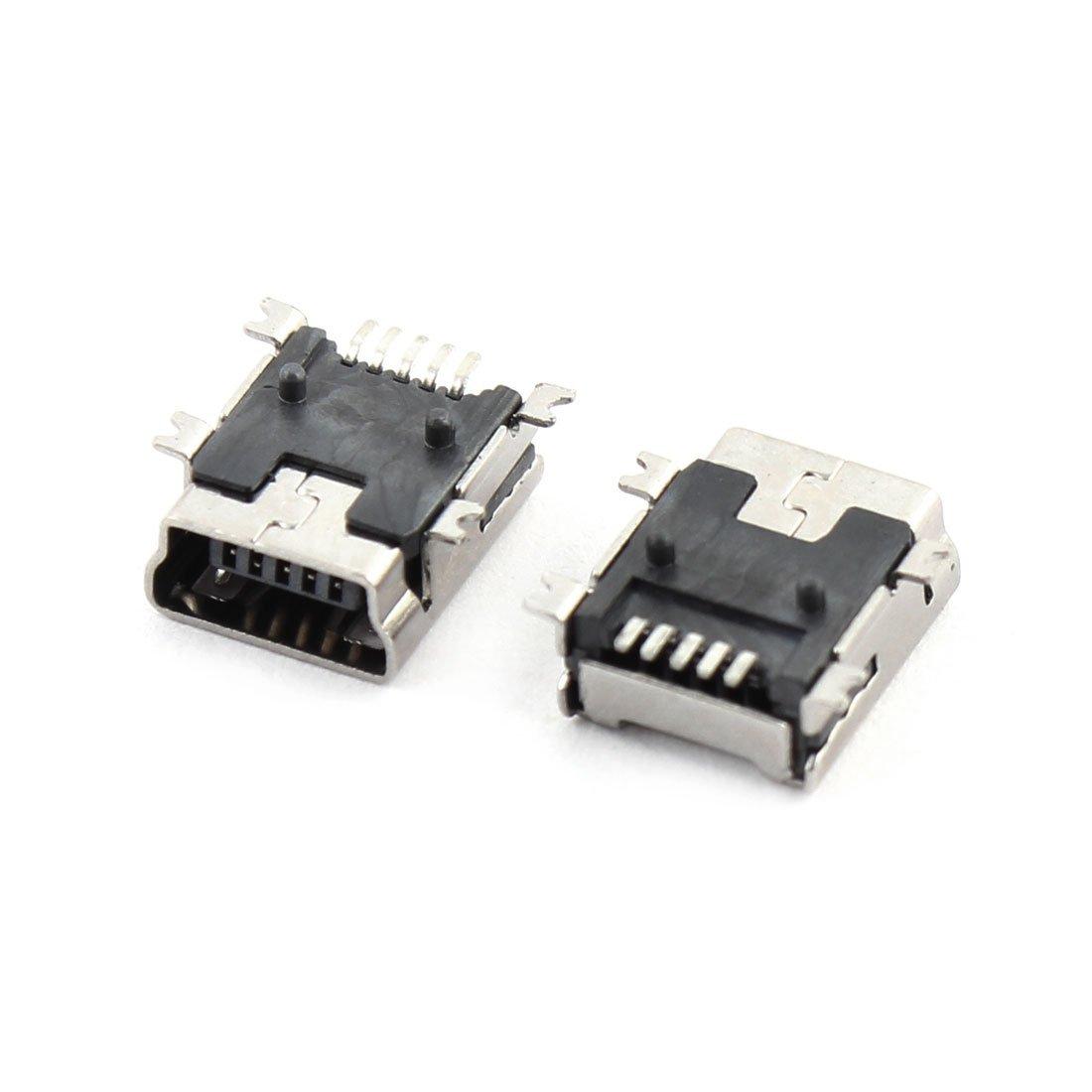 Amazon.com: eDealMax 100pcs tipo B Mini USB DE 5 Pines hembra del zócalo de gato Conector Para el teléfono: Electronics