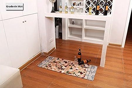 Laundry Room Floor Rug for Wash Room Non Skid Kitchen Floor Mat Non-Slip Rubber Area Rug 2x4 Ukeler Laundry Room Rug