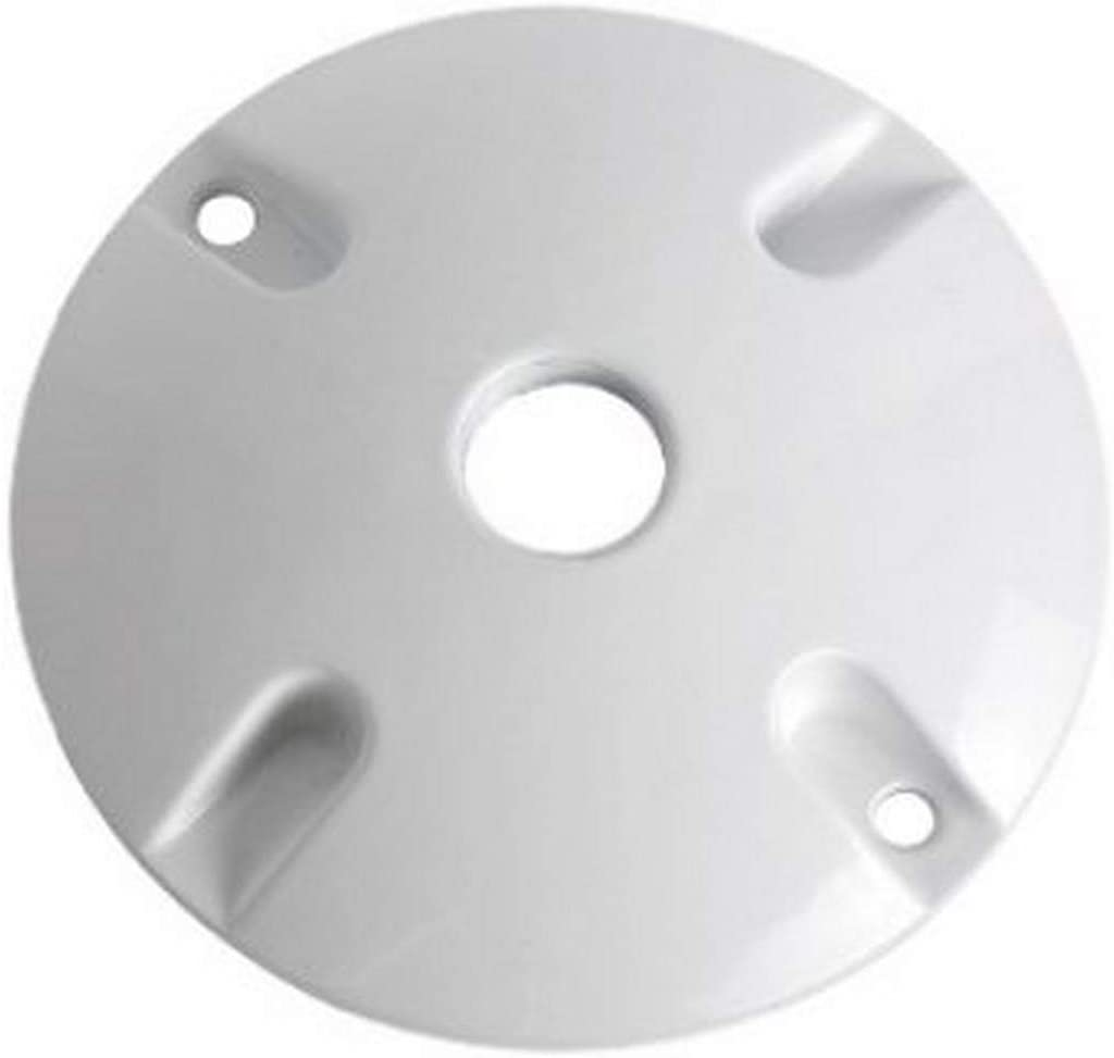 White TayMac LV310WH One-Hole Round Metal Lampholder Cover