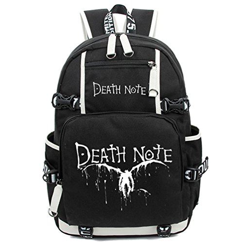 [YOYOSHome Death Note Anime Light Yagami Cosplay Noctilucence Messenger Bag Backpack School Bag] (L Costume Death Note)