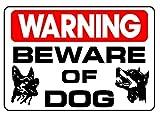 BEWARE OF DOG, 10x14 Heavy Duty Sign