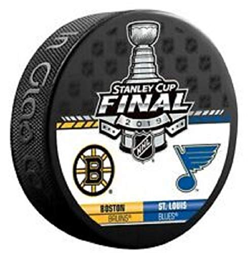 (The Hockey Company 2019 Stanley Cup Final Puck Dueling Team Design Bruins VS. Blues PRE-Order Item - Shipping Begins June 2ND)