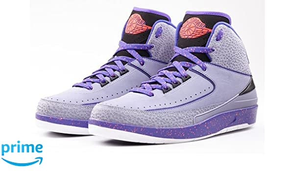 best loved 79c3d 1c017 nike air jordan 2 retro mens hi top basketball trainers 385475 sneakers  shoes (uk 9 us 10 eu 44, iron purple infrared 23 dark concord blue 553)