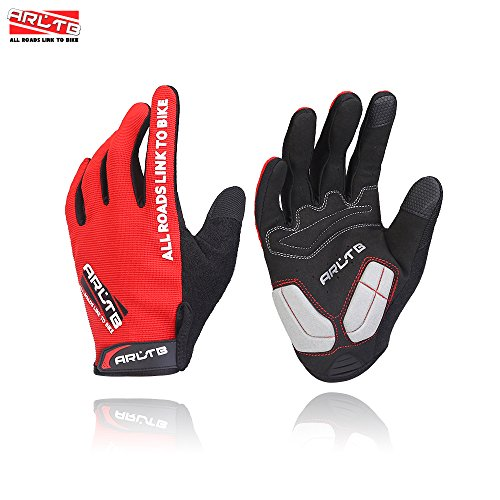 Full Cycle Fitness (Arltb 3 Size Winter Bike Gloves 3 Colors Bicycle Cycling Biking Gloves Mitts Full Finger Pad Breathable Lightweight For Bike Riding Mountain Bike Motorcycle Free Cycle BMX Lifting Fitness Climbing)
