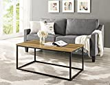 "WE Furniture 42"" Mixed Material Coffee Table - Teak"