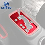 Image of Opar Red Gear Shift Knobs Cover Trim for 2011 - 2017 Jeep JK Wrangler & Unlimited
