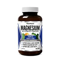 Magnesium & Vitamin D3 with Veggies | High Absorption Glycinate & Malate | for Sleep...