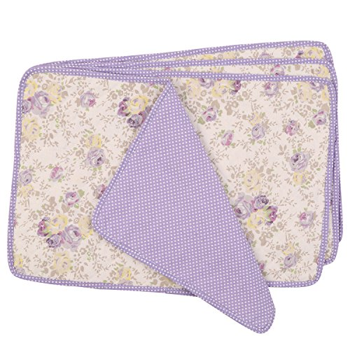 Neoviva Fabric Quilted Dining Lavender