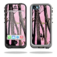 Mightyskins Protective Vinyl Skin Decal Cover for LifeProof iPhone 5C Case fre Case wrap sticker skins Pink Tree Camo