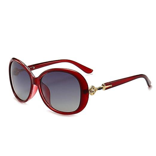 Yangjing-hl Elegantes Gafas de Sol para Mujer con Montura ...