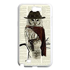 Different Style Custom Personalized Dictionary Hipster Owl Vintage Retro SamSung Galaxy Note 2 Case Dictionary Owl Cover Galaxy Note 2 N7100