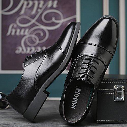 Hombre Zapatos Negro Papel Cordones De Duoshengzhtg Para XwH1qv