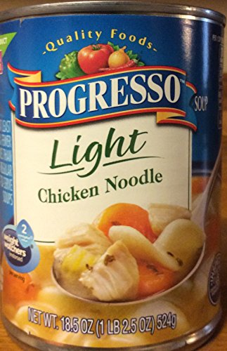 Progresso Light Chicken Noodle Soup 18.5oz Can (Pack of 2)