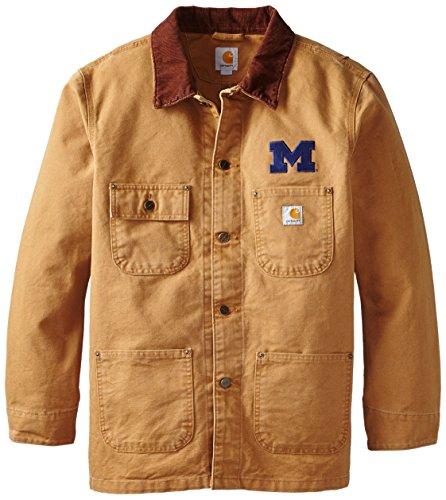 NCAA Michigan Wolverines Men's Weathered Chore Coat, X-Large ()