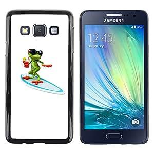 iKiki Tech / Estuche rígido - Sun Summer Beach White Frog Cartoon - Samsung Galaxy A3 SM-A300