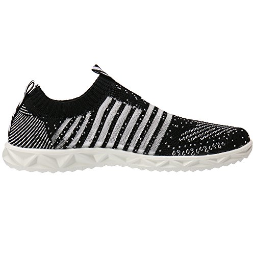 ALEADER Womens Hydro Lite-Knit Slip-On Water Shoes Black FdmNX