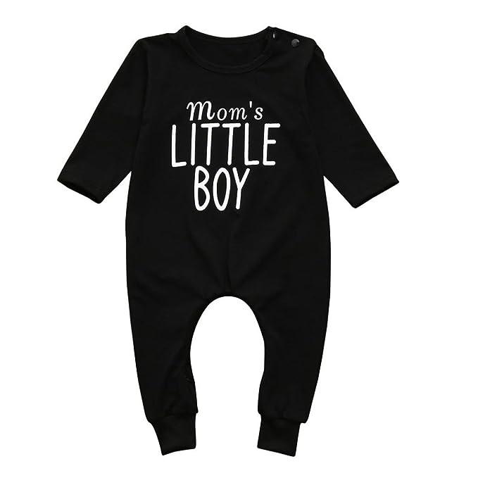 🦄 Mameluco Bebe Invierno, 🦄 Zolimx Recién Nacidos Bebé Niños Niñas Letra Imprimir Mameluco Mono Pijamas Ropa Trajes: Amazon.es: Ropa y accesorios