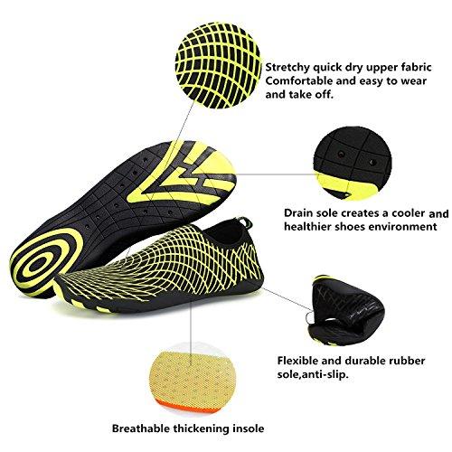 8c8a5ac1dcc3b0 WXDZ Men Women Water Shoes Quick Dry Barefoot Skin Shoes Aqua Socks for  Beach Swim Surf