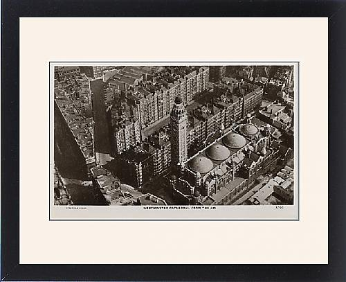 Framed Print of Westminster Cathedral viewed from the air by Prints Prints Prints