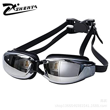6e694f8c0a Swimming Goggles Prescription Swimming Goggles Nearsighted Shortsighted  Optical Swim Glasses Lens ZHENYA Black (-2.0
