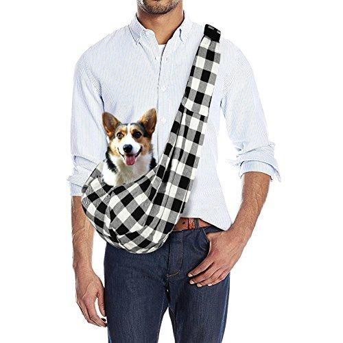 Mtinfly Pet Sling Adjustable Reversible Dog Sling Carrier Bag for Puppy Pet