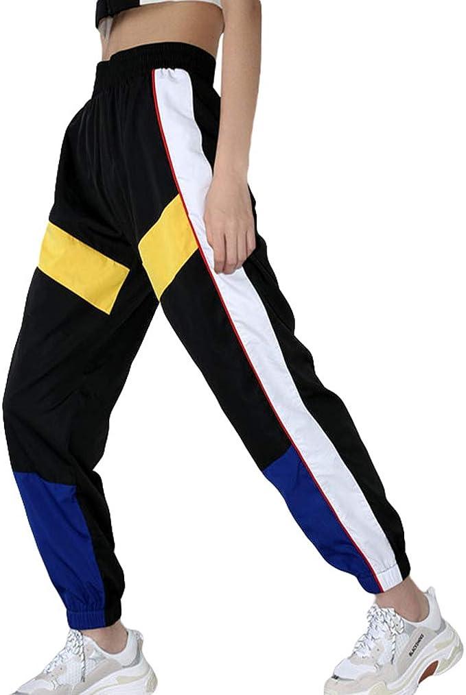 Mujer Hip Hop Pantalones de Chándal con Cintura Elástica Color ...