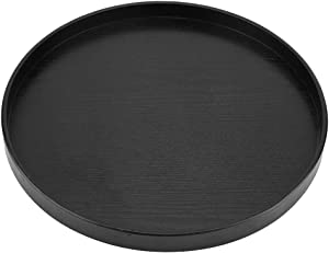 【???????????????????????? ???????????????????????????????????? 】 Neufday Round Natural Wood Serving Tray Wooden Plate Tea Food Server Dishes Water Drink Platter 33cm